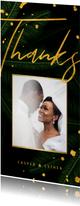 Dankeskarte Hochzeit Gold & Palmen