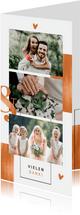 Dankeskarte Hochzeit Kupfer grafisch Fotocollage