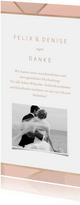 Dankeskarte zur Hochzeit geometrisch
