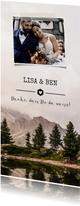 Dankeskarte zur Hochzeit Landschaft und Foto