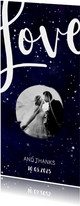 Dankeskarte zur Hochzeit mit Foto im Galaxy Design