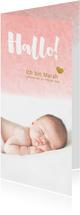 Danksagung Geburt eigenes Foto Aquarell rosa