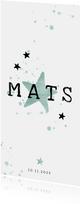 Danksagung Geburt Stern mintgrün Foto Rückseite