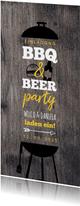 Einladung BBQ & BEER Party