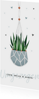 Einladung Einweihungsparty Pflanze und Herzen