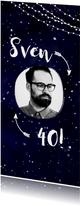 Einladung zum Geburtstag im Galaxy Design mit Foto