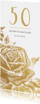 Einladung zum Hochzeitsjubiläum goldene Rose
