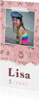 Einladung zum Kindergeburtstag mit Foto und Insekten