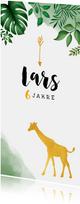 Einladung zum Kindergeburtstag mit Giraffe