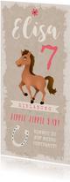 Einladung zum Kindergeburtstag Ponyparty