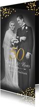 Einladung zur goldenen Hochzeit altes Foto neues Foto