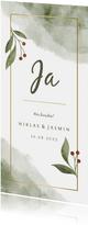 Einladung zur Hochzeit Aquarell & Zweige