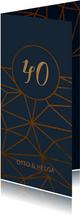 Einladungskarte 40. Hochzeitstag geometrisch