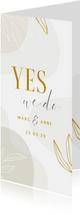Einladungskarte Hochzeit elegant & abstrakt