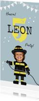 Einladungskarte Kindergeburtstag Feuerwehrmann