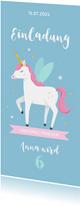 Einladungskarte Kindergeburtstag Unicorns forever