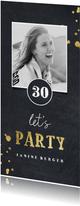 Einladungskarte Let's party mit Foto
