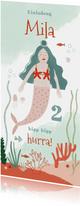Einladungskarte Meerjungfrauen Geburtstag