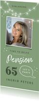 Einladungskarte Pension mit Foto und Lichtern
