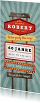 Einladungskarte zum Geburtstag Vintage-Schilder