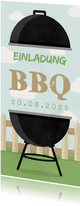 Einladungskarte zum Grillen länglich
