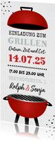 Einladungskarte zum Grillfest mit Kugelgrill