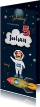 Einladungskarte zum Weltraum Kindergeburtstag