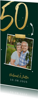 Einladungskarte zur goldenen Hochzeit Foto große 50