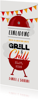 Einladungskarte zur Grill- & Chillparty