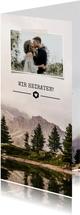 Einladungskarte zur Hochzeit Landschaft & eigenes Foto