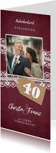 Einladungskarte zur Hochzeitsjubiläum Rubinhochzeit Foto