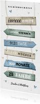 Einladungskarte zur Silberhochzeit Holzschilder