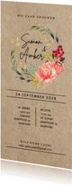 Floral chic trouwkaart met prachtige watercolor bloemen