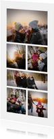 Fotokaart collage 6 foto's langwerpig