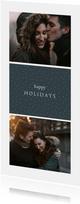 Fotokaart 'happy holidays' met foto's en stippen