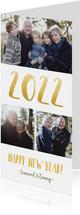 fotokaart nieuwjaars met fotocollage en jaartal 2022