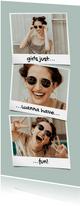 Fotokarte drei Polaroid-Fotos