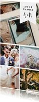 Fotokarte fünf Fotos mit Textlabel