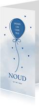 Geboorte Ballon op waterverf achtergrond blauw