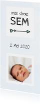 Geboorte beschuitklok voor een jongen aquarel