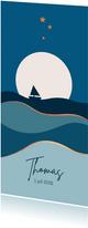 Geboorte - Maan met bootje en vlakken