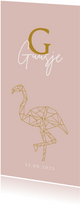 Geboorte meisje geometrisch flamingo