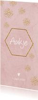 Geboorte meisje hexagon