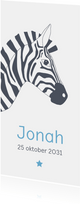 Geboorte - Zebra met ster