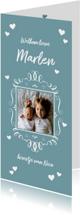 Geboortekaart fotolijstje jongen