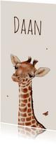 Geboortekaart Lieve kleine giraffe