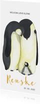 Geboortekaart pinguïn illustratie
