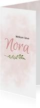 Geboortekaart roze watercolor
