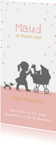 Geboortekaart silhouet kinderwagen av
