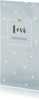 Geboortekaartje aquarel blauwe sterren - BC